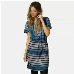 Prana Lindy Dress, Blue Geometric Large